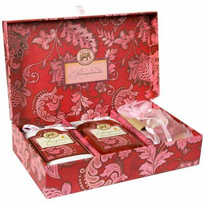 Michel Design Works POMEGRANATE Bath Salts Body Lotion Romantic Gift Set