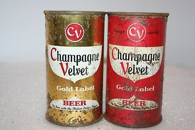 Champagne Velvet Beer 12 oz. flat top beer cans from Indiana