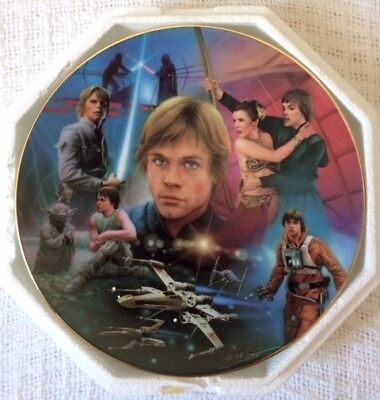 "The Hamilton Collection Star Wars Luke Skywalker 8 1/4"" Plate #3419F"