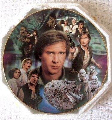 "The Hamilton Collection Star Wars Han Solo 8 1/4"" Plate #2903E"