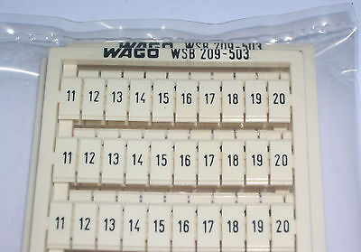 Wago, Terminal Block Markers, 11-20, 209-503, Pack Of 5