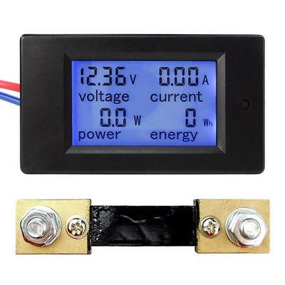 Voltage Current Power Energy Combo Meter Car Battery Monitor DC 6.5V-100V 0-100A