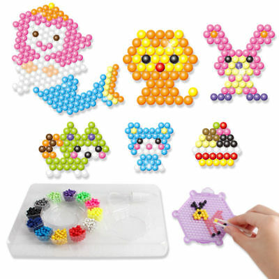 WATER BEADS TOYS Sticky Perler Pegboard Set Fuse Jigsaw