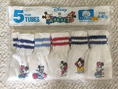 Disney Babies Mickey Mouse socks Vintage 1984 new in package