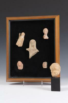 ANCIENT GREEK CARVED WHITE MARBLE HEAD OF WOMAN, circa 3rd. D.C. - La... Lot 401