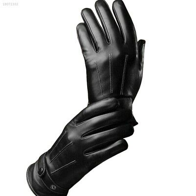 Protective Black Men Leather Riding Full Finger Touch Screen Gloves Safe C811