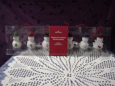 New Hallmark Miniature Snowman Ornaments - Check Them Out