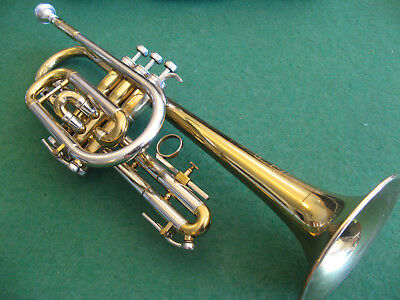 """York Super Custom Cornet """"Airflow Stencil"""" 1957 with Case and 7C Mouthpiece"""