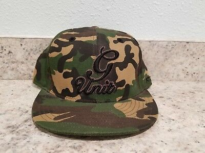 Reebok G Unit Green  Camo Camouflage Hat Cap Size 7 1/2