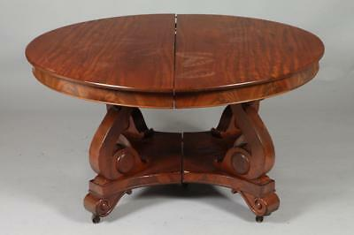19TH CENTURY AMERICAN EMPIRE MAHOGANY DINING TABLE WITH SEVEN LEAVES... Lot 1446