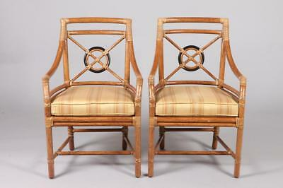 EIGHT 21ST CENTURY MCGUIRE FOR BAKER FAUX BAMBOO DINING CHAIRS WITH ... Lot 1314