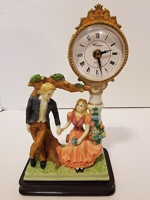 Windsor Mantle Clock Man And Woman