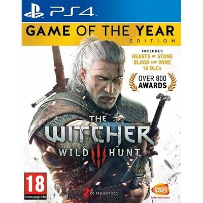 The Witcher 3 Wild Hunt Game Of The Year (GOTY) PS4 | PlayStation 4 - New Game