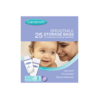NEW Lansinoh Breast Milk Bags 25 Pack