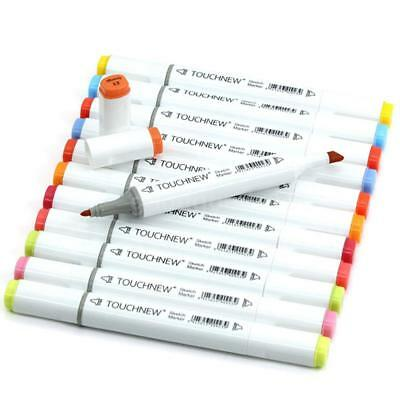 TOUCHNEW 12PCS Drawing Painting Art Sketch Alcohol Marker Pen Dual Head for Kids
