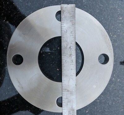 "ASA FLANGE 7 1/2 "" BORE 3 1/4"" DIAMETER 4 x 3/4 mounting holes High Vacuum SS"