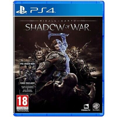 Middle Earth Shadow of War PS4 Game   Playstation 4 - New Game