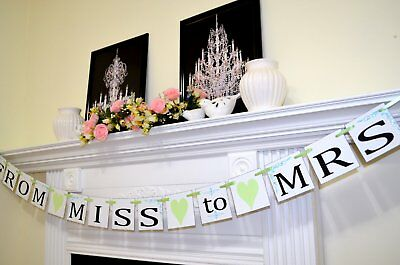 miss to mrs custom bridal shower banners mint from miss to mrs banners