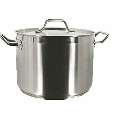 Thunder Group 16-Qrts Stainless Steel Stock Pot with Lid NSF Certified, SLSPS016