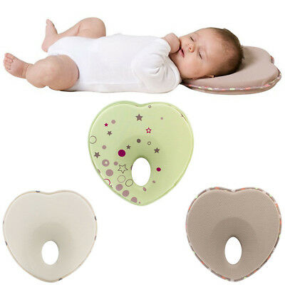 Anti Roll Prevent Flat Head Support Neck Memory Foam Newborn Baby Infant Pillow