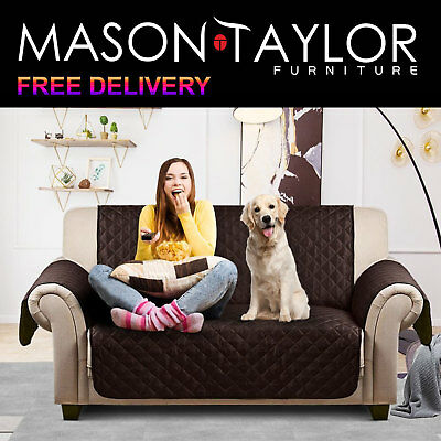 Mason Taylor 1/3-Seater Sofa Cover Quilted Lounge Protector Couch Slipcovers