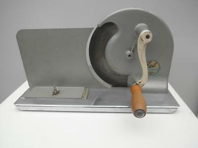 Vintage RETRO Early DOMESTIC Food MEAT Slicer on LARGE Platform QZZQ Adelaide