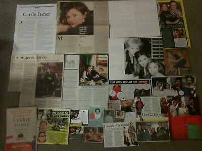 CARRIE FISHER - Over 20 clippings - Star Wars