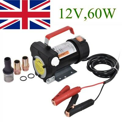 12V Diesel Fluid Extractor Electric Transfer Pump Car Fuel Auto Speed 40L/min UK