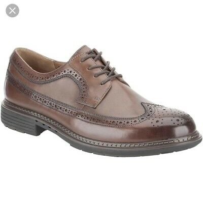 NEW Clarks Farli Limit Grey Genuine Leather Brogues Shoes Mens Uk Size 10.5 G