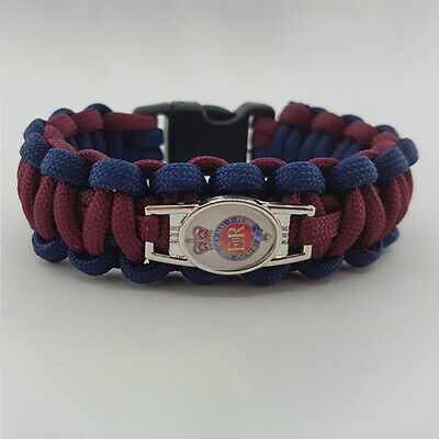 Household Cavalry (HHC) Badged Survival Bracelet Tactical Edge.