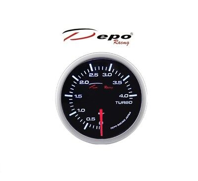 Depo Racing Getönte Digital Ladedruck Anzeige / Turbo Boost Gauge 0 -> 4 Bar
