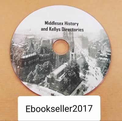 ebooks, 33 of Middlesex history in pdf and kellys local directories, pdf on disc