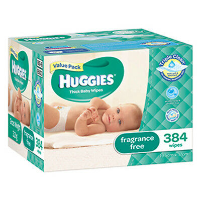 NEW Huggies Wipes Unscented Mega 384 Pack