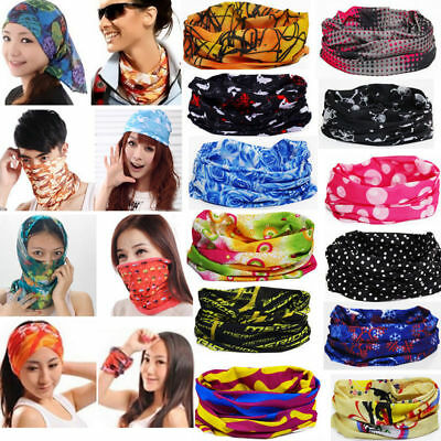Motorcycle Bike Outdoor Face Mask Shield Neck Gaiter Headwear Band Scarf Gift
