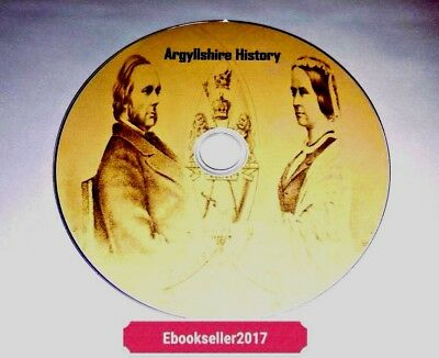 ebooks, 40 of Argyllshire History genealogy in pdf & mobi formats for PC on disc