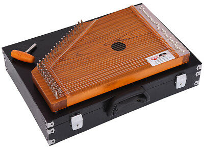 Swarmandal~Teak Matte Finish~Surmandal~Harp~Tuning Key & Carry Box~Mantra, Chant