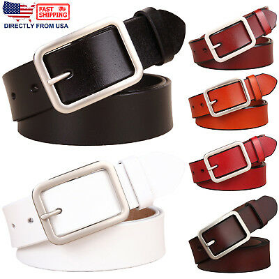 Women's Classic Buckle Handcrafted Genuine Leather Belt
