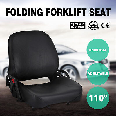 New Universal Folding Forklift Seat Fits Cat SeatBelt Included Free shipping
