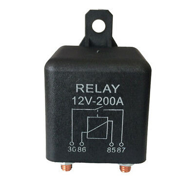 1/2/3*Durable Normally Open 4 Pin Relay Heavy Duty Automotive Split Charge Black