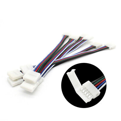 10PCS 4/5Pin LED PCB Connector Cable For RGB RGBW 5050 3528 LED Strips 10mm 12mm