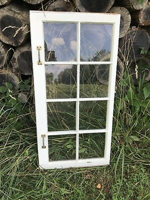 Vintage SASH ANTIQUE WOOD WINDOW  FRAME Barn WEDDING 8 PANE GLASS Narrow