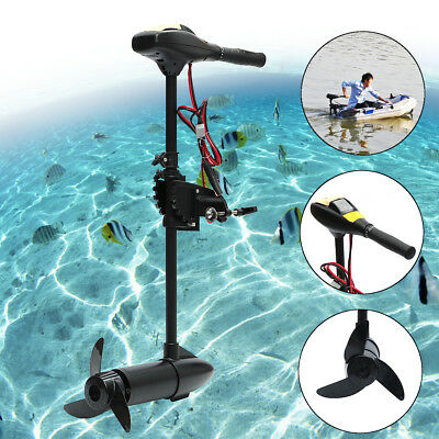 18/28/40/60/LBS 12/24V transom mount shaft Electric Outboard Trolling Motor Boat