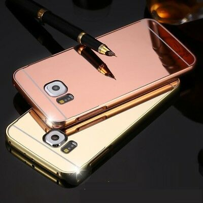 Luxury Aluminum Ultra-thin Mirror Metal Case Cover for Samsung Galaxy S6 S7 S8 +