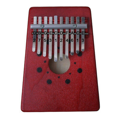 10 Key Kalimba Single Board Mahogany Thumb Piano Mbira with Tone Sticker USA