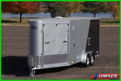 ATC Aluminum 7 X 24 Enclosed Snowmobile Motorcycle Side By Side Trailer
