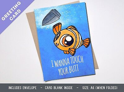 LOVE greeting card FINDING NEMO DISNEY Boyfriend Girlfriend Birthday Anniversary
