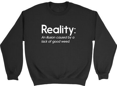 Reality Definition Funny Boys Girls Kids Childrens Jumper Sweatshirt