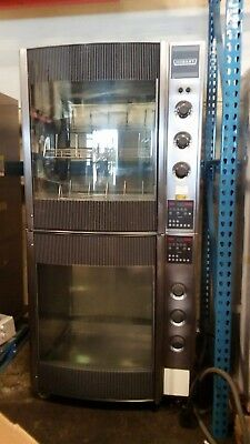 HOBART CHICKEN ROTISSERIE OVEN DOUBLE STACK HR-7 with warmer