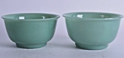 good pair 19th century chinese peking glass bowl imitation jade glass bowls qing
