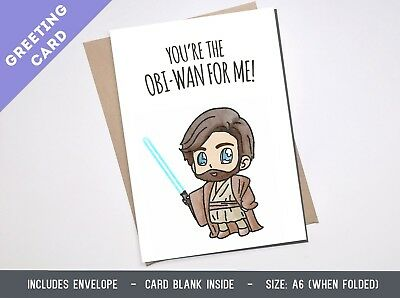 Greeting card STAR WARS OBIWAN funny boyFriend Girlfriend Birthday Anniversary